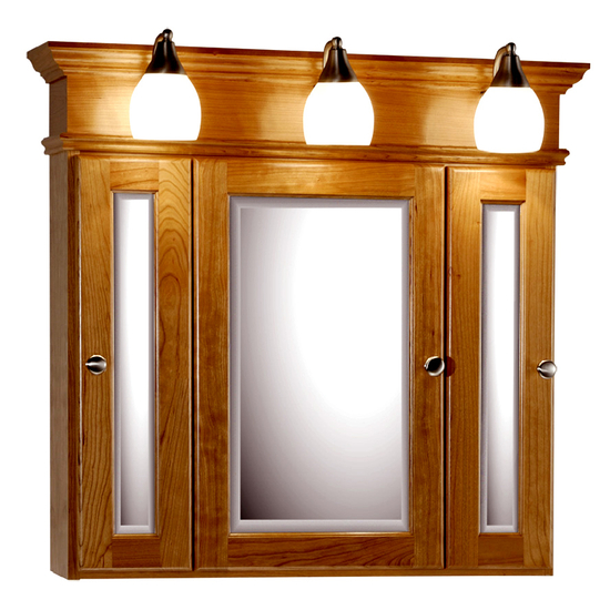 medicine cabinet with lights by strasser woodenworks kitchensource