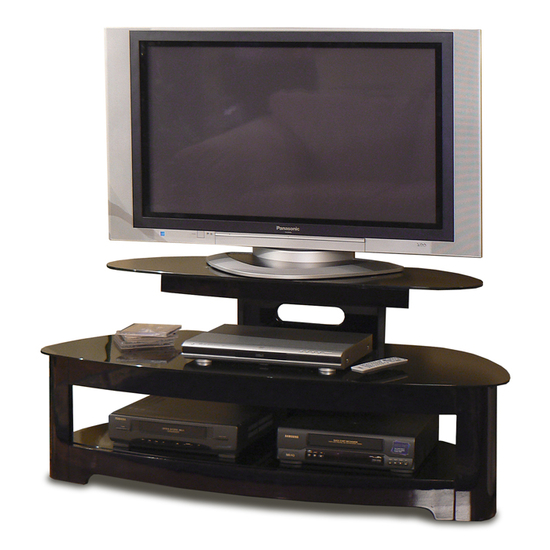 "Sorento Series 50"" TV Cabinet, High Gloss Black, Shown with TV"