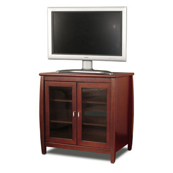 "Veneto Series 30"" Wide A/V Furniture, Walnut, Shown with TV"
