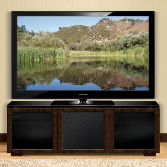 Tech-Craft Chic European Deep Brown Finish Wood Audio/Video Cabinet