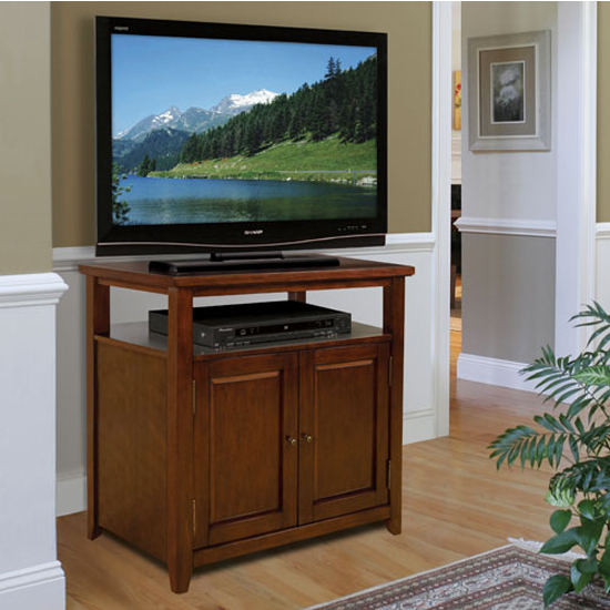 Tech-Craft Mahogany Finish Wood Audio/Video Cabinet