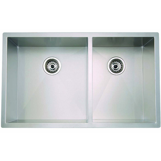Linea Series Stainless Steel 1 & 3/4 Double Bowl Undermount Sink