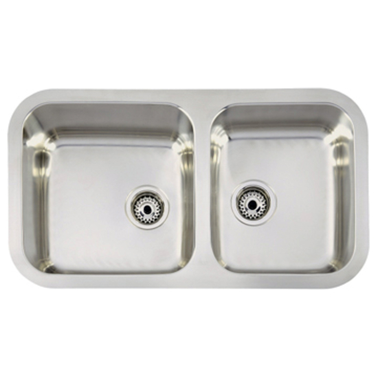 Teka Sink : Teka Sinks Undermount Series Stainless Steel Double Bowl Sink, 33-1/4 ...