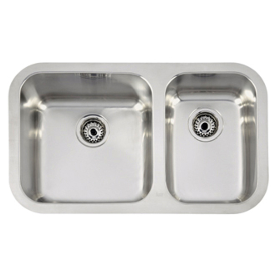 Teka Sink : Teka Sinks Undermount Series Stainless Steel Double Bowl Sink, 30-7/8 ...