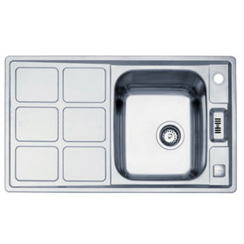 Cuadro Series Stainless Steel Single Bowl Top Mount Sink