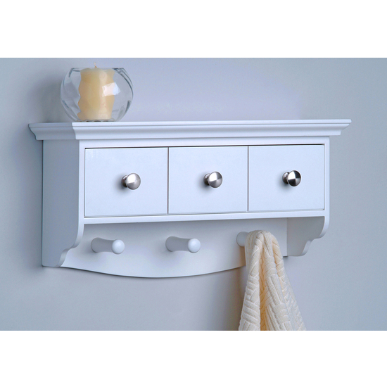 Decorative Wall Mounted Shelf And Storage Drawer : Bathroom accessories furniture bath