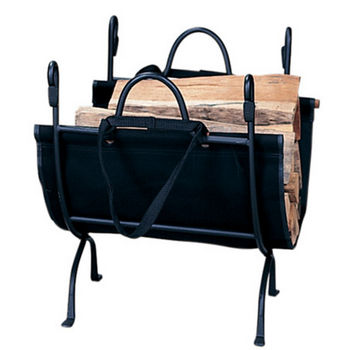 Deluxe Wrought Iron Log Holder