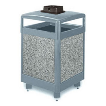 Aspen 2000 Series Waste Receptacle with Weather Urn | UN-R38HTWU-2000-PL
