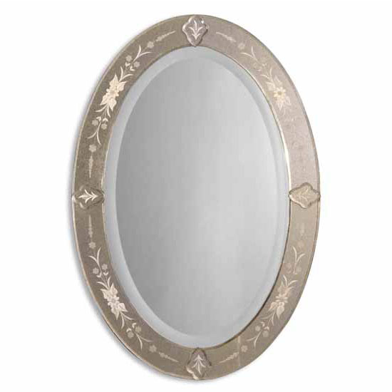 Uttermost Donna Antique Oval Mirror