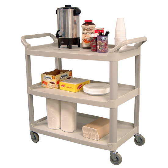 Universal Products 3 Shelf Serving Cart in Gray