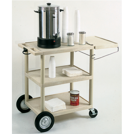 Universal Products 3 Shelf Serving Cart in Putty