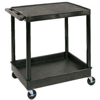 Universal Products Large 2 Shelf Flat Top Utility Tub Cart