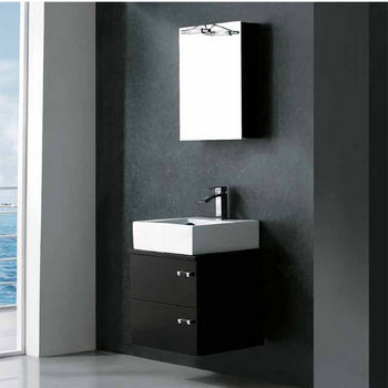 Vigo 23-inch Single Bathroom Vanity with Medicine Cabinet, Wenge