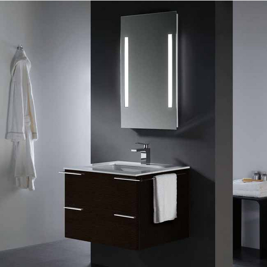 Vigo 31- inch Single Bathroom Vanity with Mirror and Lighting System, Wenge