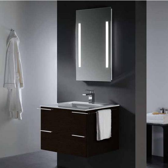 Vigo 31- inch Single Bathroom Vanity with Mirror and Lighting System, Wenge