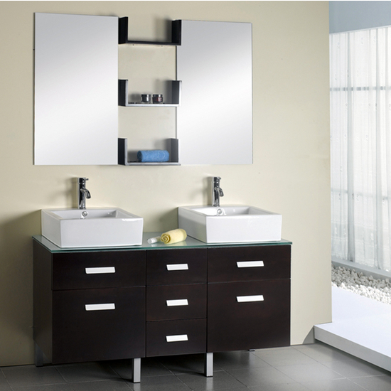 Virtu Maybell Complete Double Bath Vanity Set