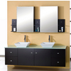 Clarissa Espresso Double Bath Vanity Set