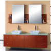 Clarissa Honey Oak Double Bath Vanity Set