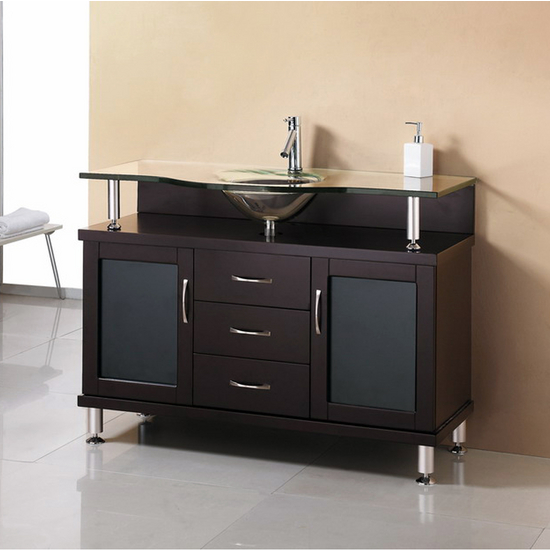 "Virtu Vincente 48"" Single Bath Vanity with 2 Doors & 3 Drawers"
