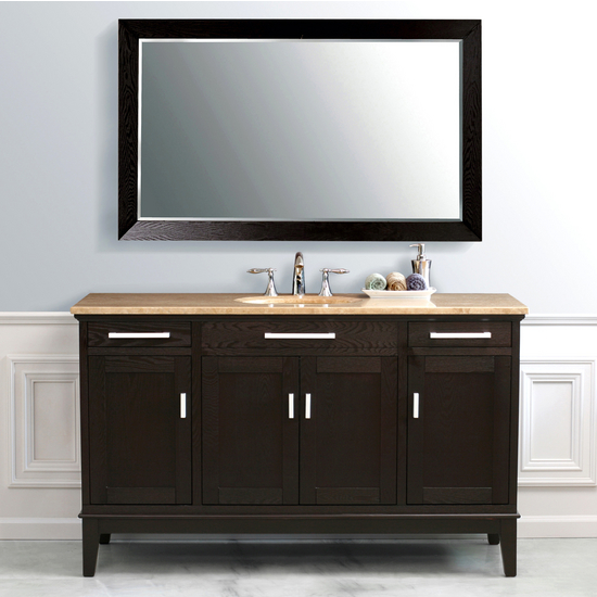Vanity Counter Set : Virtu marcellino single bath vanity set cabinet mirror
