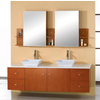 Clarissa 61 Double Bath Vanity Set, Honey Oak