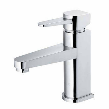 Vigo Single Handle Chrome Finish Faucet, Wide Straight Handle