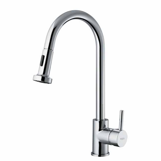 Vigo Chrome Pull-Out Wide Spray Kitchen Faucet