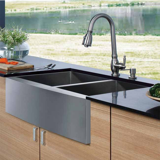 Stainless Farmhouse Kitchen Sink USA