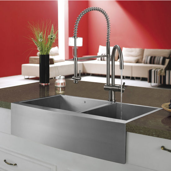 Vigo Pull-Down Spray Kitchen Faucet, Stainless Steel Finish