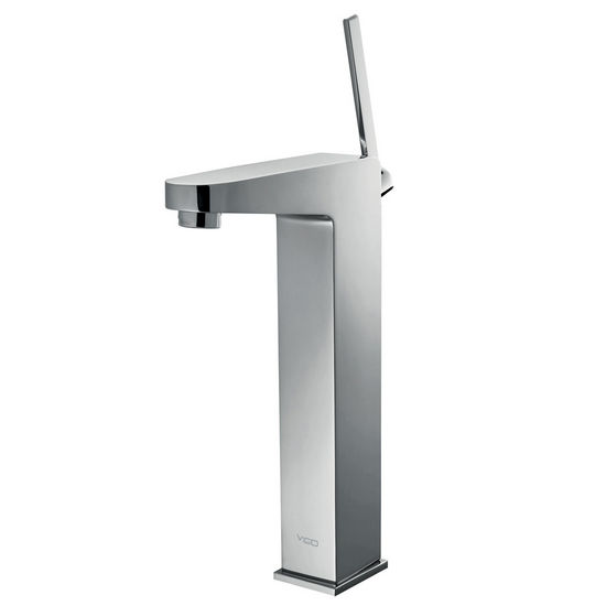 Vigo Chronus Vessel Faucet, Chrome Finish