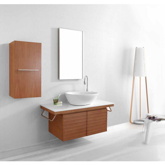 "Virtu Porter 48"" Single Sink Bathroom Vanity Set, Chestnut"