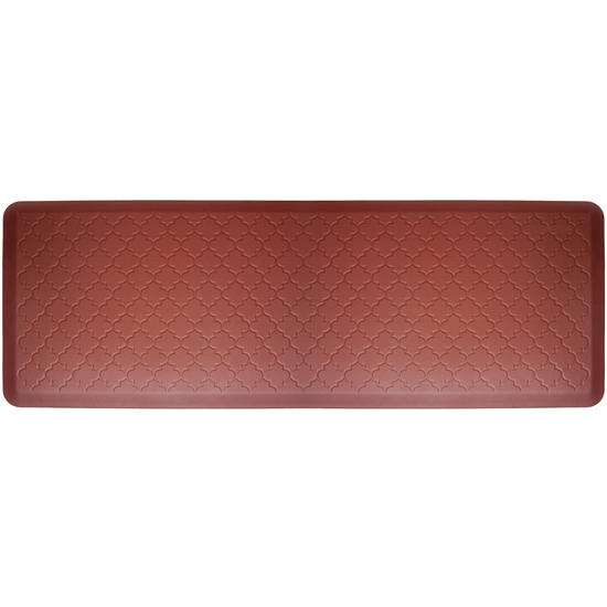 WellnessMats 2011 Motif Collection - Trellis Wellness Mat, 72 inch W x 24 inch D x 3/4 inch H, Burgundy ...