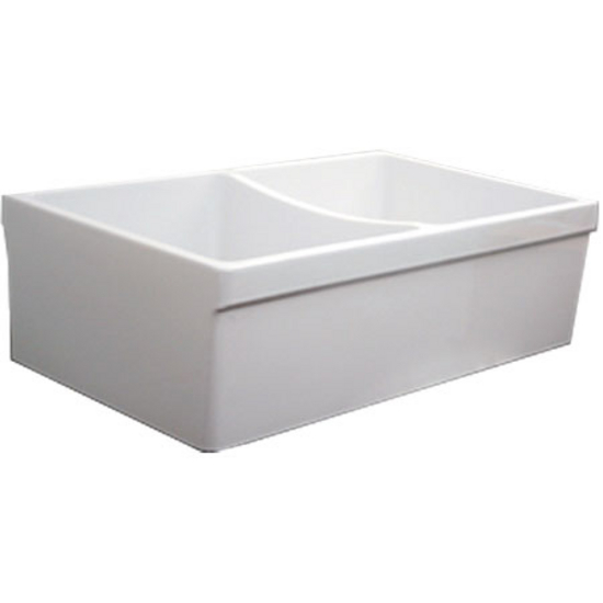 Noah Collection - Double Bowl Fireclay Kitchen Sink