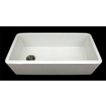 Whitehaus Farmhaus Fireclay Sink with Smooth Front Apron