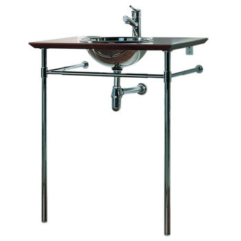 New Generation Bubinga Wood Counter Top Unit w/Stainless Steel Basin