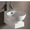 Round Bath Sink with Wall-Mount Base