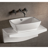 Rectangular Bath Sink with Wall-Mount Countertop