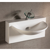 U-Shaped Bowl Bath Sink with Wall-Mount Basin