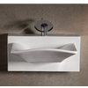 Rectangular Bowl Bath Sink with Wall-Mount Basin