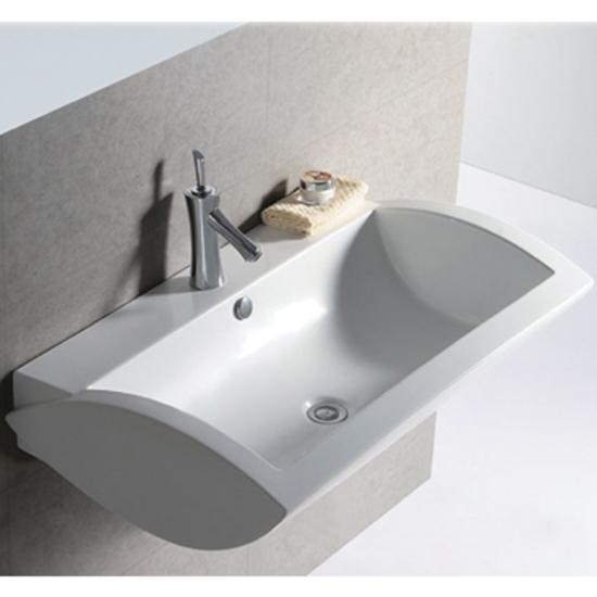 Isabella Rectangular Wall-Mount Bath Sink by Whitehaus