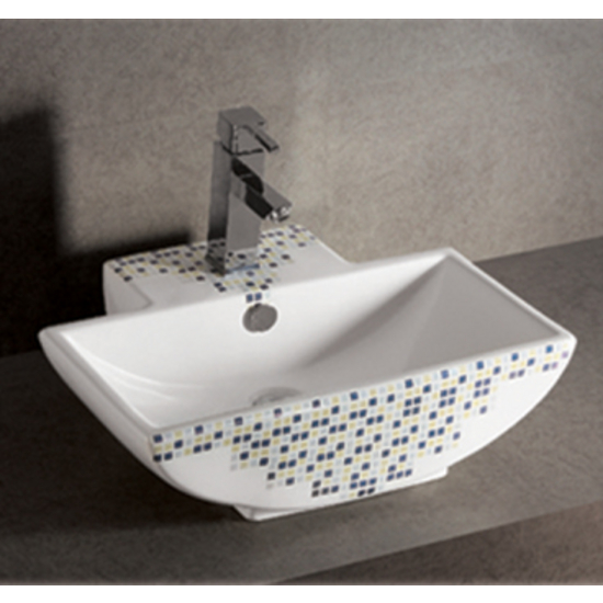 Isabella Decorative Rectangular Above-Mount Bath Sink by Whitehaus