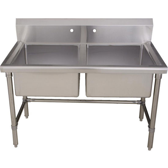 double bowl laundry tub utility sink