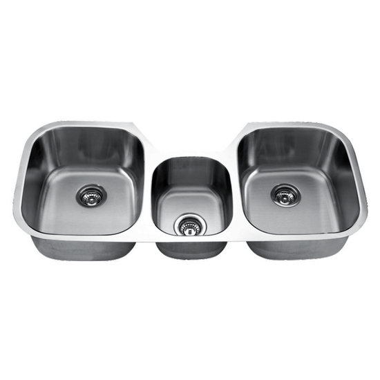 Craftsmen Series Stainless Steel Triple Bowl Undermount Sink