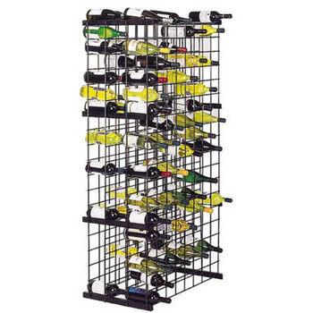 Metal Lattice Wine Rack in Satin Black - WN-ML152-WC