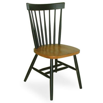 International Concepts Copenhagen Chair in Black & Cherry Finish