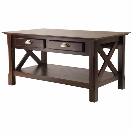 Winsome Wood Xola Coffee Table with Cappuccino Finish