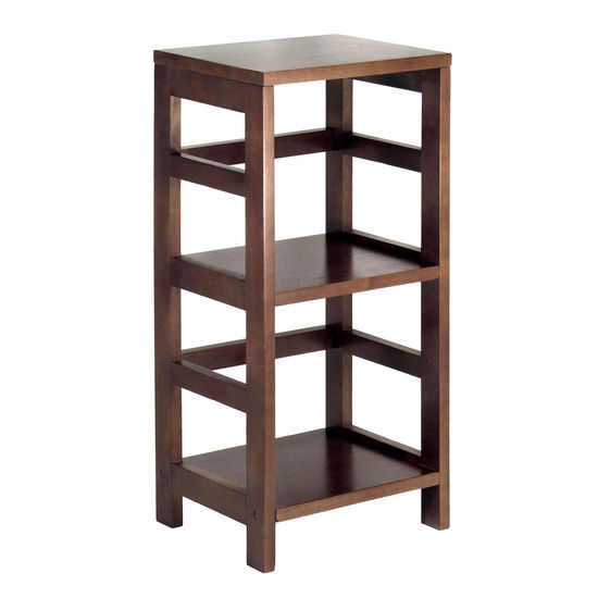 2 section narrow storage shelf with baskets by winsome