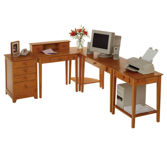 Furniture office furniture computer desk pine corner computer desks - Pine corner desks ...