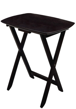 Winsome Wood TV Tables, Black, Set of 4