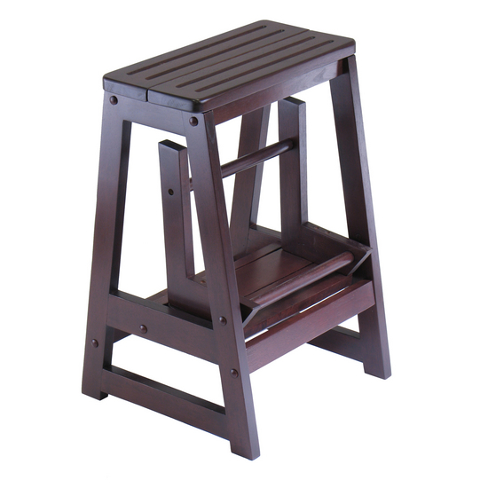 Home Furnishings Winsome Wood Folding Step Stool Sturdy Solid Wood Construction